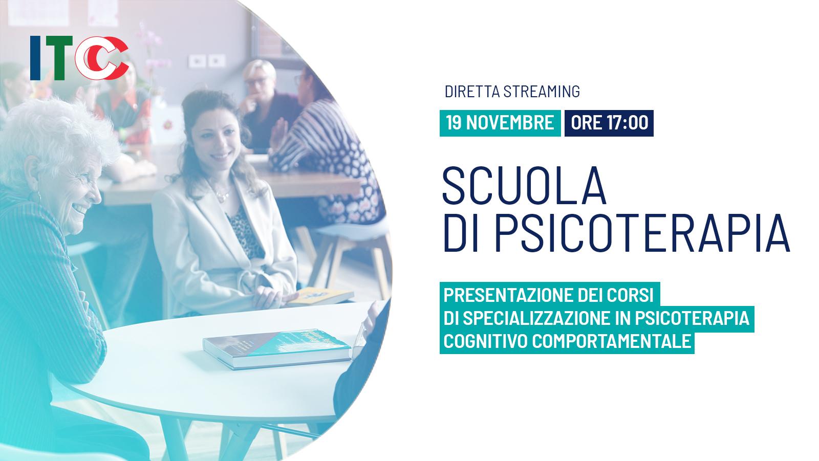 Presentazione dei corsi di Specializzazione in Psicoterapia Cognitivo Comportamentale - Studi Cognitivi