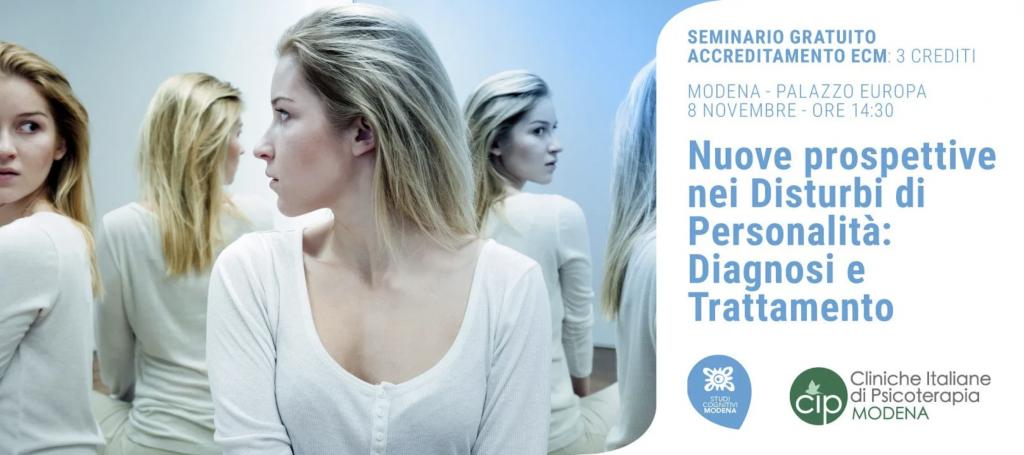Seminario: Nuove prospettive nei Disturbi di Personalità: diagnosi e trattamento