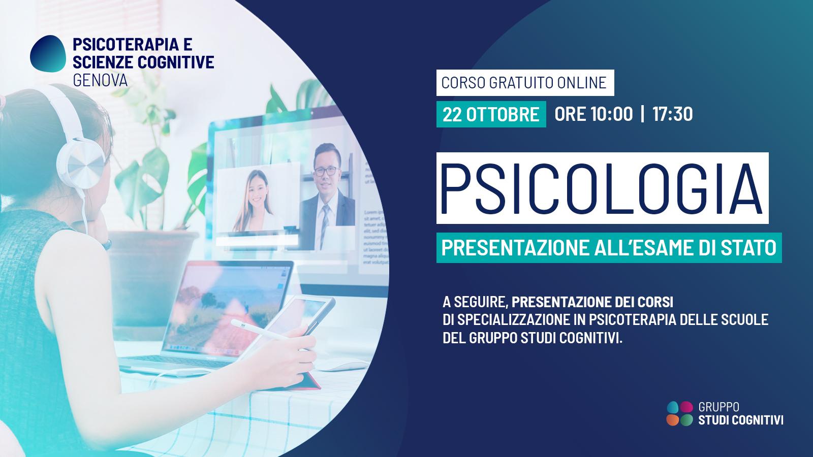 Esame di Stato Psicologia - Psicoterapia e Scienze Cognitive Genova